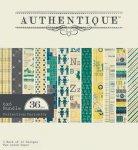 zestaw papierów Authentique 15x15cm Curiosity