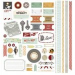 arkusz naklejek 30x30cm Clippings Element Stickers