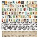 alfabet - naklejki - zestaw 30x30cm Clippings