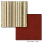 dwustronny papier Christmas Day - Stripe