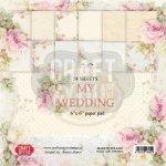 zestaw papierów 15x15cm Craft&You My Wedding