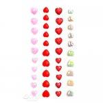 samoprzylepne kryształki serca 40szt. Candy Kisses