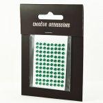 samoprzylepne kryształki - 3mm ciemnozielone