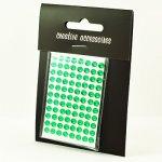 samoprzylepne kryształki - 4mm zielone