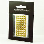 samoprzylepne kryształki - 5mm złote