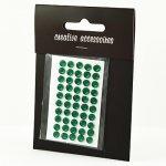 samoprzylepne kryształki - 5mm ciemnozielone