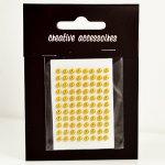 samoprzylepne perełki - 3mm złote