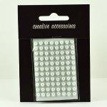 samoprzylepne perełki - 4mm białe