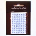 samoprzylepne perełki - 4mm błękitne
