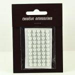 samoprzylepne perełki - 5mm białe
