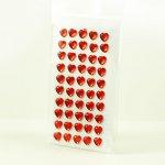 samoprzylepne kryształki - serduszka czerwone