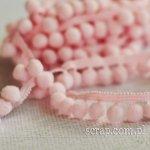 wstążeczka różowa z pomponikami - 1mb