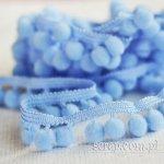 wstążeczka niebieska z pomponikami - 1mb