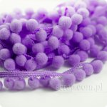 wstążeczka fioletowa z pomponikami - 1mb