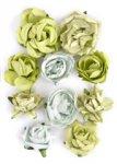 kwiatki Kaiser - Paper Blooms - Olive