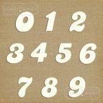 tekturowe cyferki duże (wzór #1)