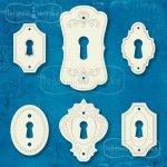 dziurki od kluczy szyldziki retro 6 wzorów