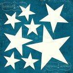 gwiazdki i gwiazdy z tekturki 8szt. 11,5x11,5