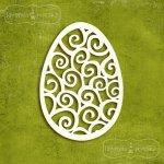 wielkanocne jajka tekturowe duże ażurowe 5szt.