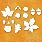 zestaw tekturek jesiennych Kolekcja Wędrówka