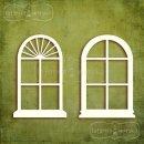 romantyczne okienka owalne 4 szt.