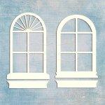 romantyczne okienka owalne ze skrzynkami 2 szt.