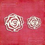 róże z tekturki 5szt. 11,5x11,5