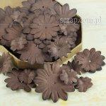 kwiatki papierowe miks - zestaw Brązowy