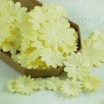 kwiatki papierowe miks - zestaw Żółty