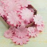 kwiatki papierowe miks - zestaw Różowy