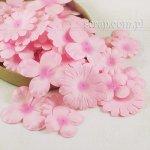 hortensje i margerytki - zestaw różowy cieniowany