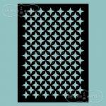 maska/szablon/do embossingu - gwiazdki patchwork