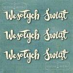 tekturowe napisy Wesołych Świąt x3 kaligrafowane