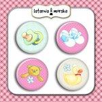 plakietki ozdobne flair buttons - zestaw dziecięcy