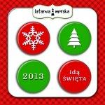 GRUDNIOWNIK plakietki flair buttons- świąteczne