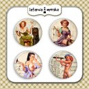 plakietki ozdobne flair buttons - Pin Up Girls #1