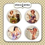 plakietki ozdobne flair buttons - Pin Up Girlsl #1