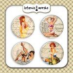 plakietki ozdobne flair buttons - Pin Up Girlsl #2
