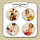 plakietki ozdobne flair buttons - Pin Up Girls #3