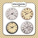 plakietki ozdobne flair buttons - zegary vintage