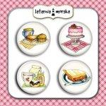 plakietki ozdobne flair buttons - kulinarne