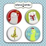 plakietki flair buttons- Potworna Kolekcja Święta
