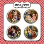 plakietki ozdobne flair buttons - Święta Rodzina
