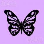 pojedynczy stempel gumowy Motyl Ornamentowy Duży