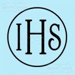 pojedynczy stempel gumowy IHS w kółku