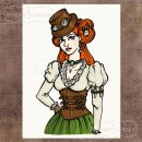 stempel gumowy Steampunk Stories - Lady Steampunk