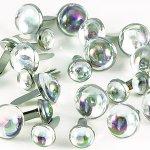 ćwieki perły przezroczyste - 10mm i 7mm 20 sztuk
