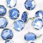 ćwieki duże okrągłe kryształki niebieskie