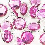 ćwieki duże okrągłe kryształki różowe 20szt.