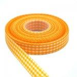 wstążeczka jasnopomarańczowa w kratkę - 1mb